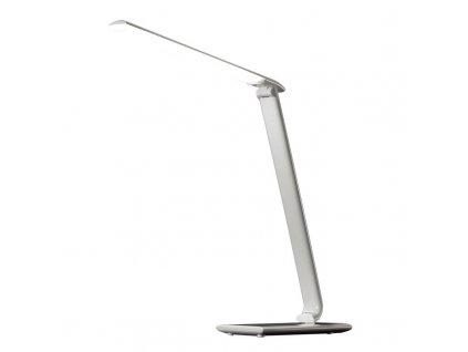 WO37-W Solight LED stolní lampička stmívatelná, 12W, volba teploty světla, USB, bílý lesk