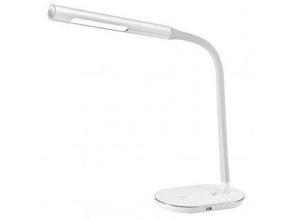 WO50-W Solight LED stolní lampička stmívatelná, 8W, 4500K, USB, bílá