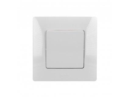 LG-BL764501 Solight vypínač Legrand Niloé č. 6 střídavý - schodišťový, bílý, včetně rámečku