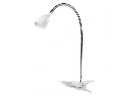 WO33-W Solight LED stolní lampička, 2.5W, 3000K, clip, bílá barva