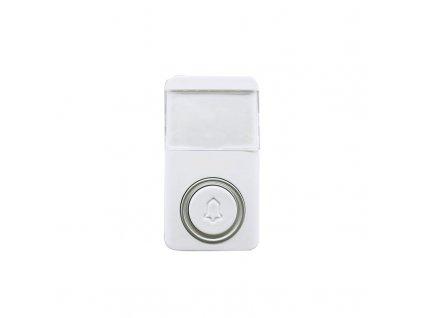 1L64T Solight bezdrátové bezbateriové tlačítko pro 1L64, 120m, bílé, learning code