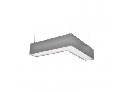 WPR-18W-001 Solight LED lineární závěsné osvětlení, L konektor 18W, 1500lm, Lifud, 3 roky záruka, stříbrná barva