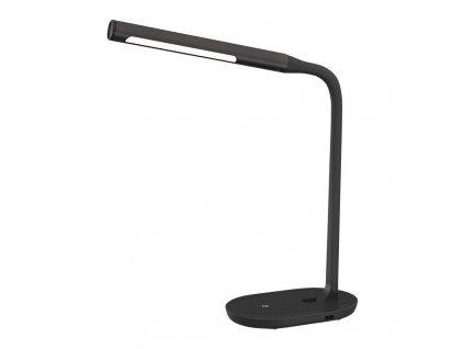 WO50-B Solight LED stolní lampička stmívatelná, 8W, 4500K, USB, černá