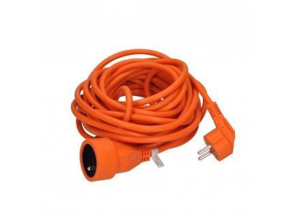Solight prodlužovací přívod - spojka, 1 zásuvka, 7m, 3 x 1mm2, oranžová