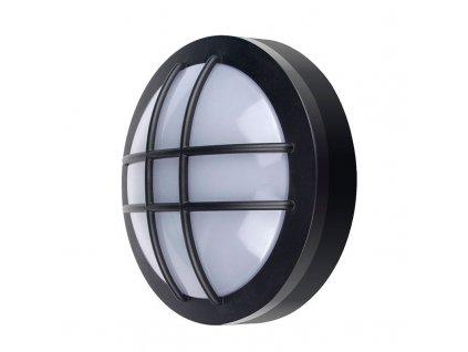WO753 Solight LED venkovní osvětlení kulaté s mřížkou, 13W, 910lm, 4000K, IP65, 17cm, černá