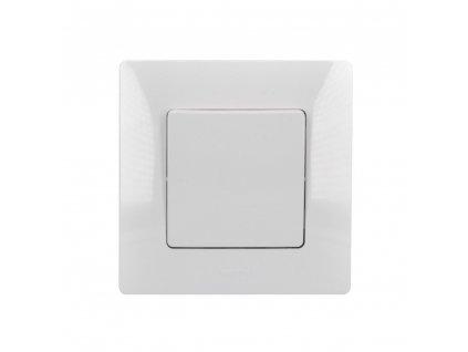 LG-BL764504 Solight vypínač Legrand Niloé č. 7 křížový, bílý, včetně rámečku