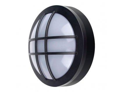 WO754 Solight LED venkovní osvětlení kulaté s mřížkou, 20W, 1500lm, 4000K, IP65, 23cm, černá