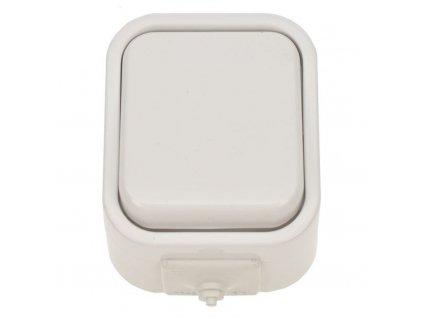 5D01 Solight vypínač do vlhka, jednopólový, bílý