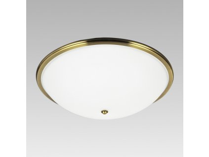 Prezent Stropní svítidlo VIOLA 3xE27/40W,D500, GOLD BRASS/WHITE 75354