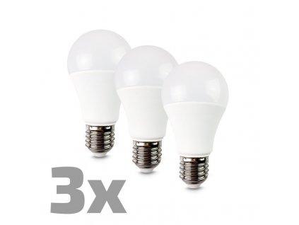 WZ530-3 ECOLUX LED žárovka 3-pack, klasický tvar, 12W, E27, 3000K, 270°, 980lm, 3ks v balení