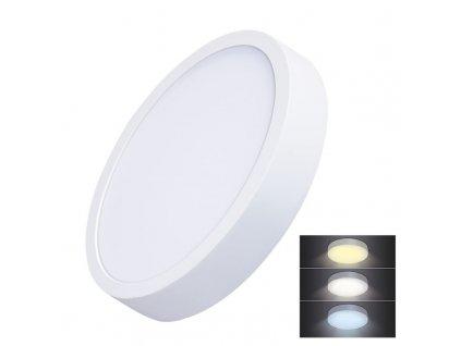 WD174 Solight LED mini panel CCT, přisazený, 24W, 1800lm, 3000K, 4000K, 6000K, kulatý