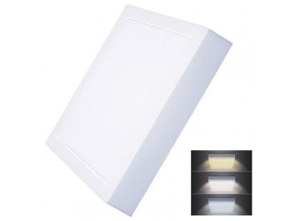 WD175 Solight LED mini panel CCT, přisazený, 24W, 1800lm, 3000K, 4000K, 6000K, čtvercový