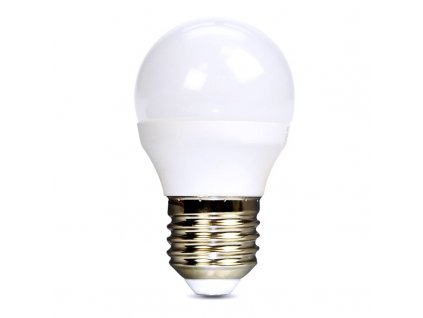 Solight LED žárovka, miniglobe, 6W, E27, 4000K, 510lm