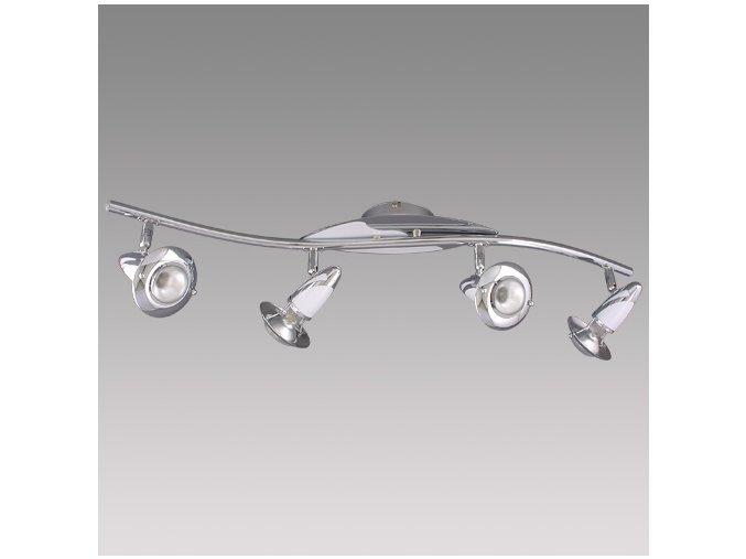 Prezent Stropní svítidlo ZEUS 4xE14/R50/40W, CHROME/WHITE 342