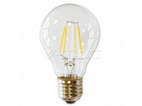 V-TAC LED žárovka Filament Bulb 4W 320lm E27 VT-1885D – Teplá bílá 2700K
