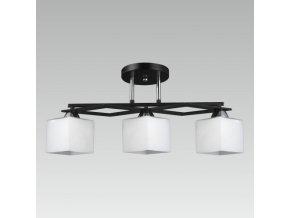 Prezent Stropní svítidlo RABBIT 3xE27/60W, CHROME/OPAL/BLACK 33314
