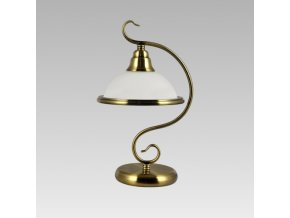Prezent Lampa VIOLA 1xE14/40W, GOLD BRASS/WHITE, TABLE 75356