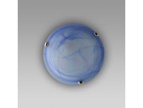 Prezent Stropní svítidlo ALABASTER 1xE27/60W, D300, BLUE/CHROME 1406 K