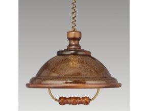 Prezent Závěsné svítidlo ACRYL WOOD/WLA-04,CHANDELIER WALNUT 73006 K54