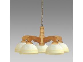 Prezent Závěsné svítidlo TEMIDA 5 LUSTER 5xE27/60W, CHERRY 56 44001 M56