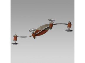 Prezent Stropní svítidlo ZEUS 4xE14/R50/40W, NS/CHERRY WOOD 469