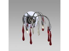 Prezent Nástěnné svítidlo SALYX 3xG4/20W, CHROME/RED, WALL 14018