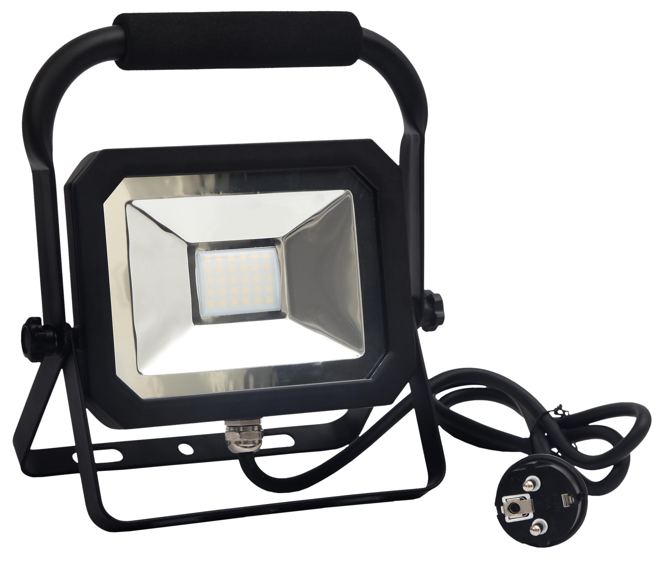 NEDES LED reflektor slim+držák 20W/4000K - LF1022H