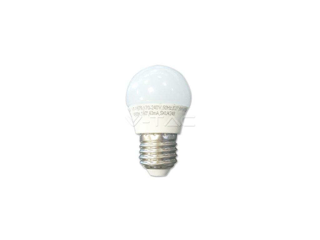 V-TAC LED žárovka E27 3W G45 neutrální bílá