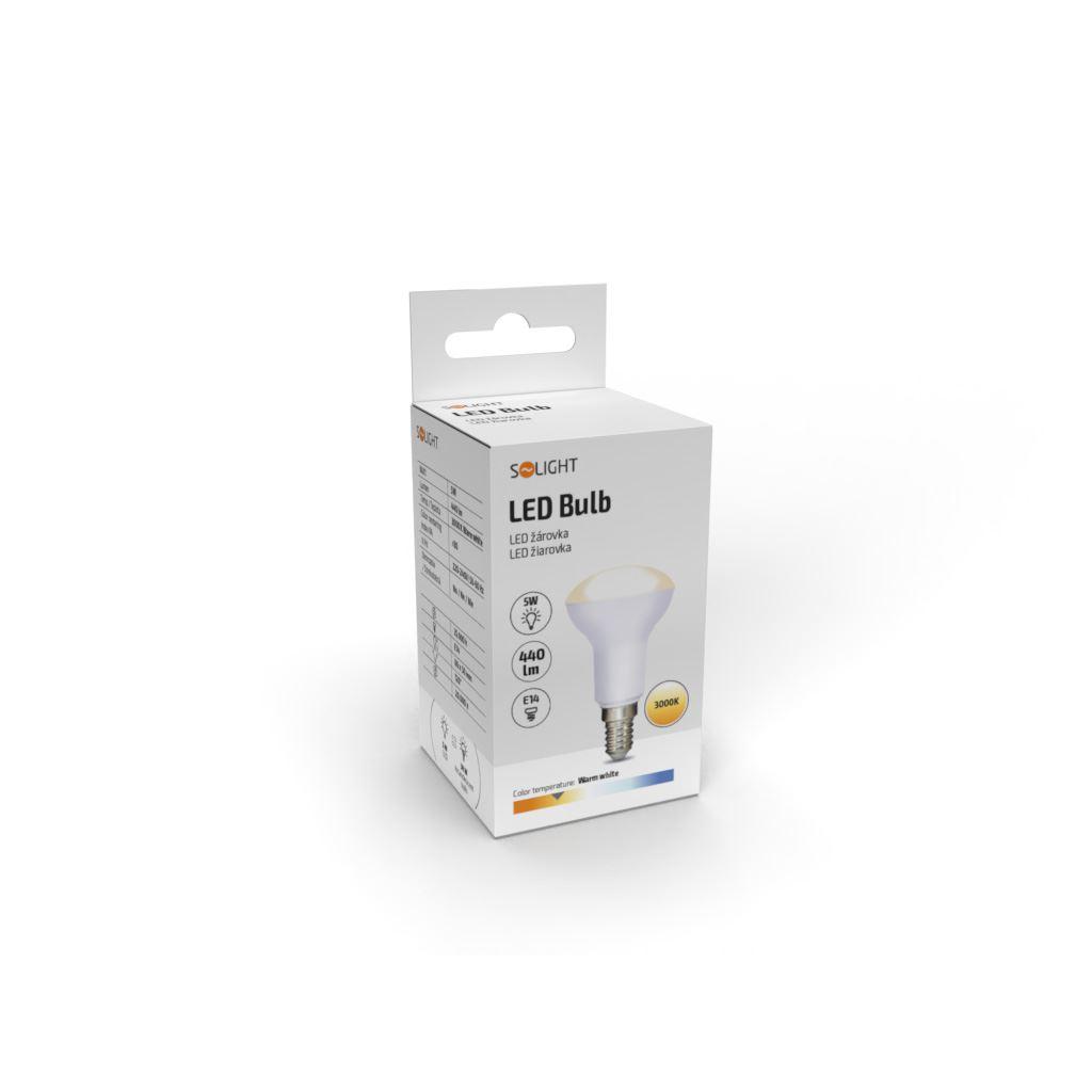 WZ413 Solight LED žárovka reflektorová, R50, 5W, E14, 3000K, 400lm
