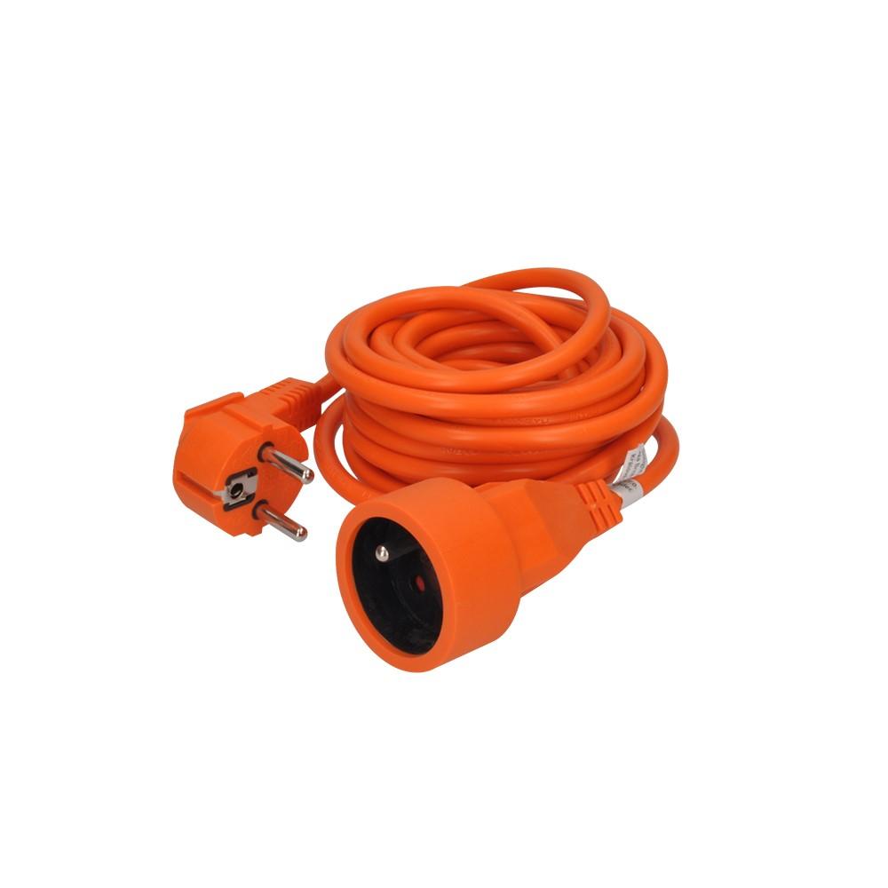 PS04O Solight prodlužovací kabel - spojka, 1 zásuvka, oranžová, 5m