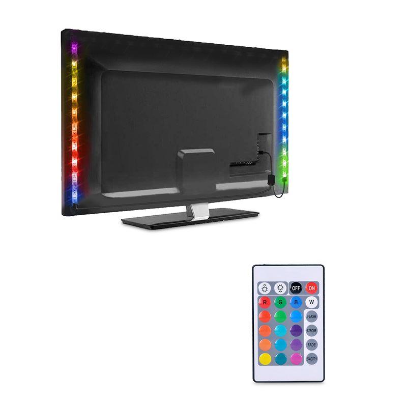 WM504 Solight LED RGB pásek pro TV, 2x 50cm, USB, vypínač, dálkový ovladač