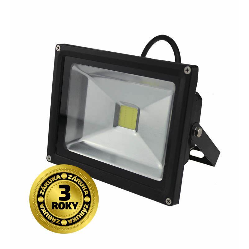 WM-20W-E Solight LED venkovní reflektor, 20W, 1600lm, AC 230V, černá