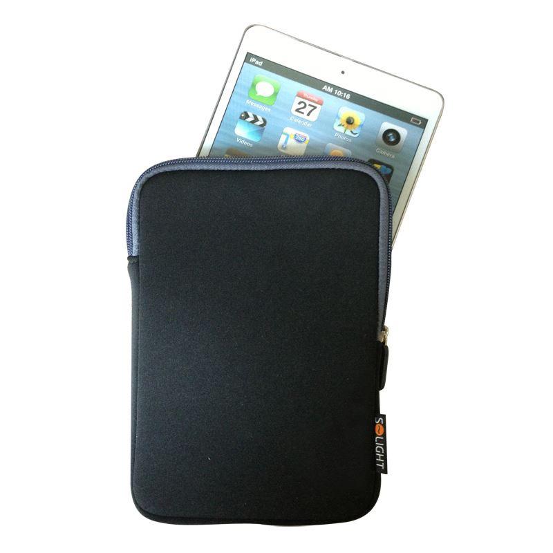 1N35 Solight neoprenové pouzdro na tablet, e-čtečku do 8\'\', nárazuvzdorné polstrování, černé Solight