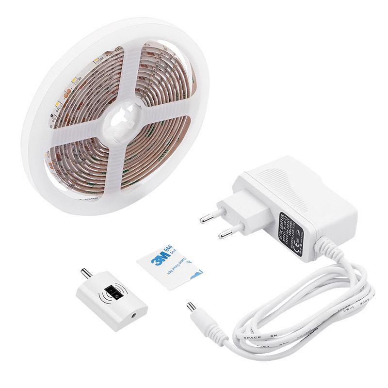 WM505 Solight LED stmívatelný pásek s bezdotykovým ovládáním, 3m, 180 LED, 4000K, IP65, 230V