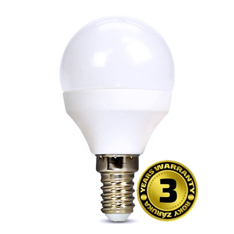WZ415 Solight LED žárovka, miniglobe, 4W, E14, 3000K, 310lm