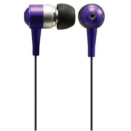 1J11P Solight sluchátka, pecky, 10mm, metalická barva, fialová