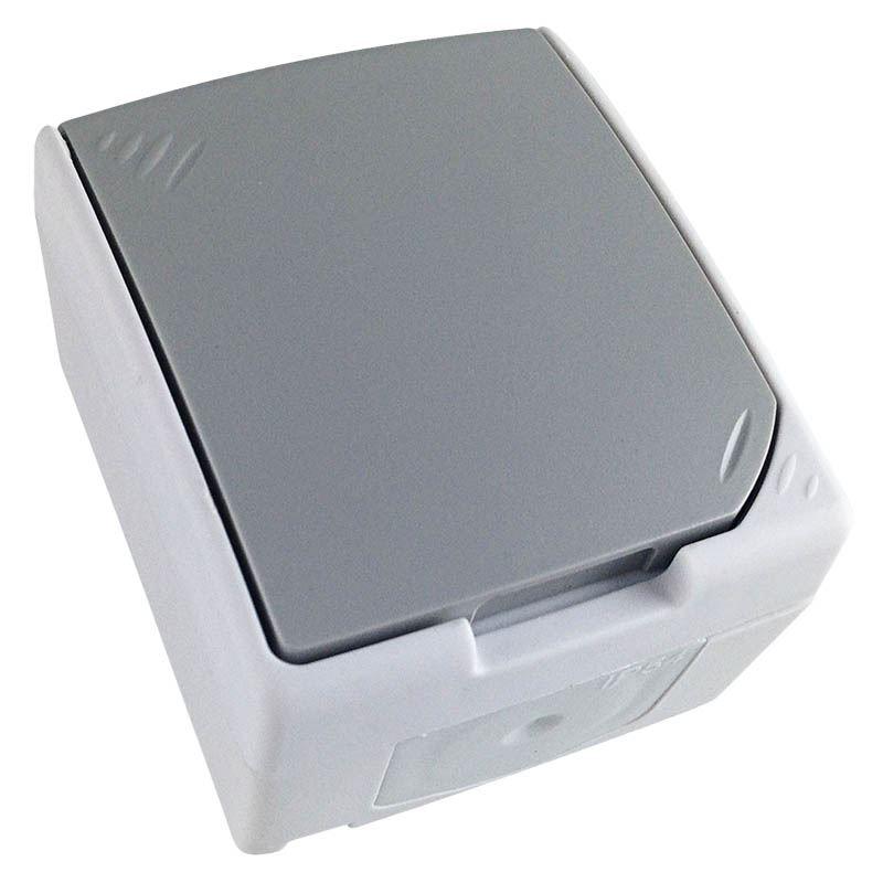 5B305 Solight zásuvka do vlhka IP54, šedá