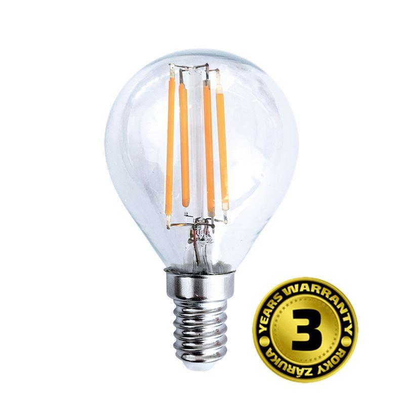 WZ427 Solight LED žárovka retro, miniglobe, 4W, E14, 3000K, 360°, 440lm
