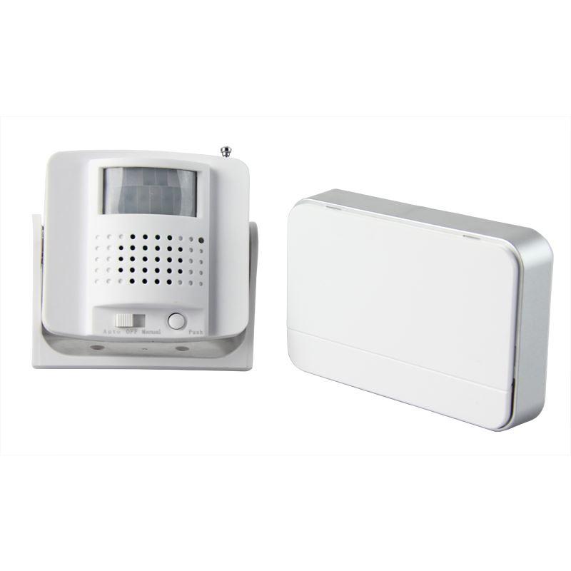1D05 Solight bezdrátový hlásič pohybu/gong, externí PIR čidlo, napájení bateriemi, bílý