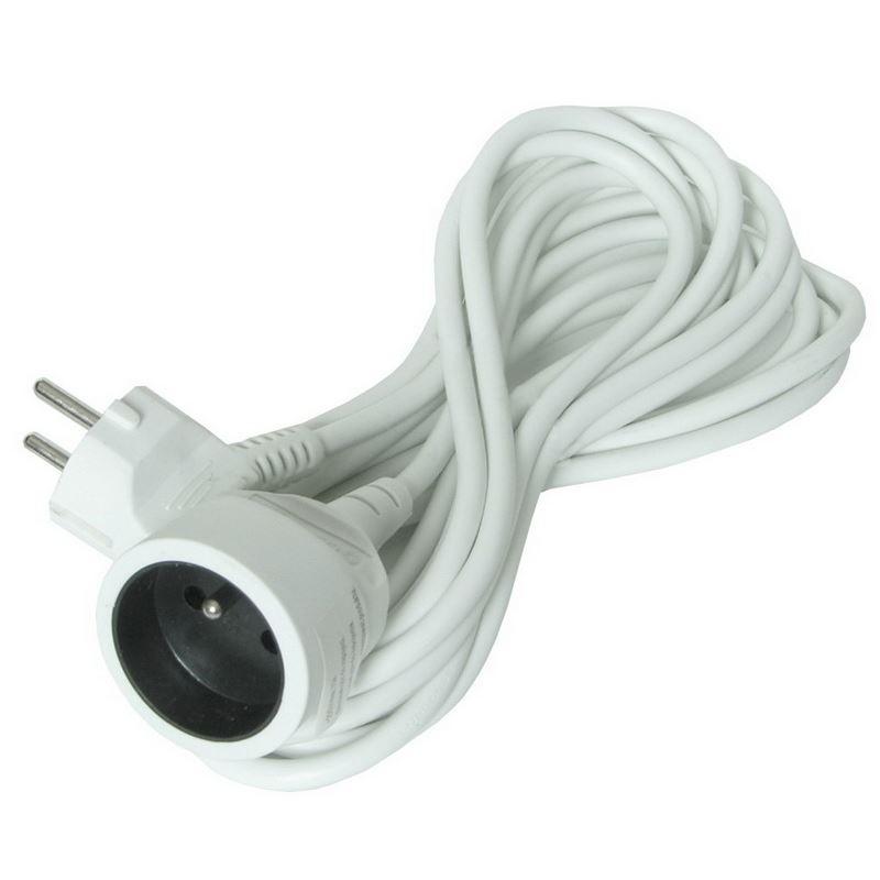 PS04 Solight prodlužovací kabel - spojka, 1 zásuvka, bílá, 5m