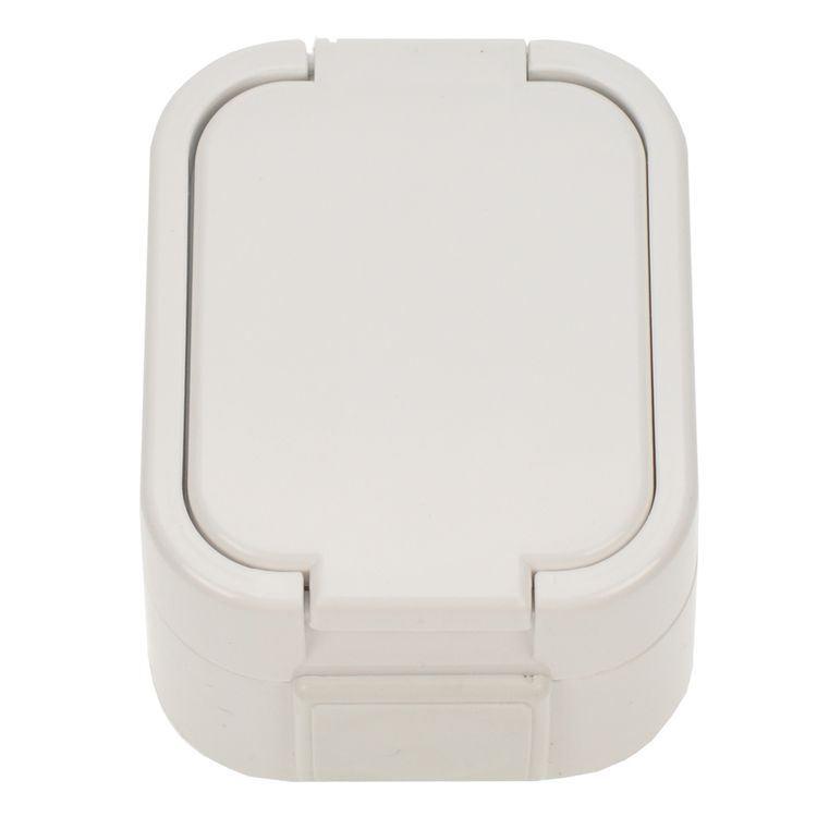 5D06 Solight zásuvka do vlhka s víčkem, bílá