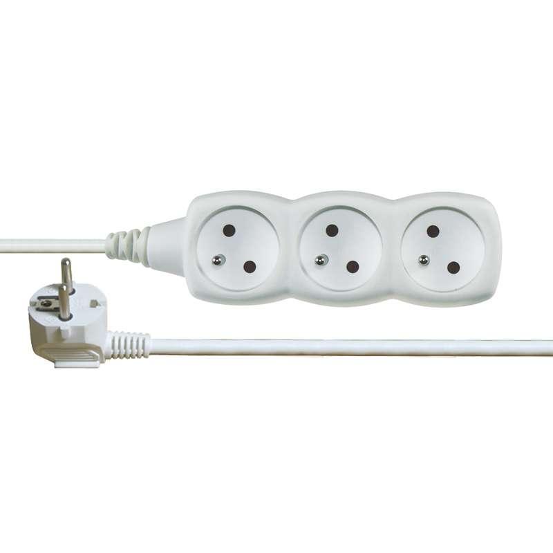 EMOS Prodlužovací kabel bílý 3 zásuvky 5m