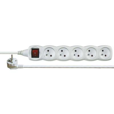 EMOS Prodlužovací kabel s vypínačem 5 zásuvky 5m, bílý