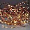 Solight vánoční řetěz měděný, 100x mini LED, 10m, 3 x AA, teplé světlo