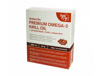 PREMIUM OMEGA-3 KRILL OIL, 60 cps. EPA+DHA, cholin, astaxanthin