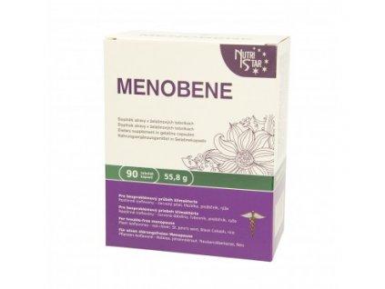 MENOBENE 90 cps - isoflavony červený jetel, třezalka, ploštičník, rýže