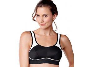 Jeniffer - černá/bílá - sportovní podprsenka po operaci prsu Amoena