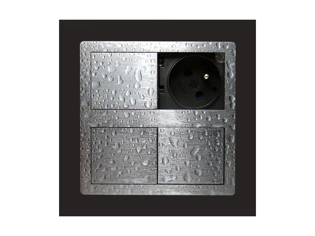 large gniazdo kuchenne bryzgoszczelne 2x230v asa ip54 versahit aluminium szczotkowane asa plastici 060.15e.00001 1542099785