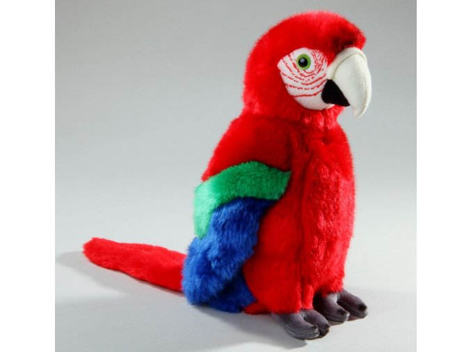 Plüss papagáj 28 cm - plüss játékok