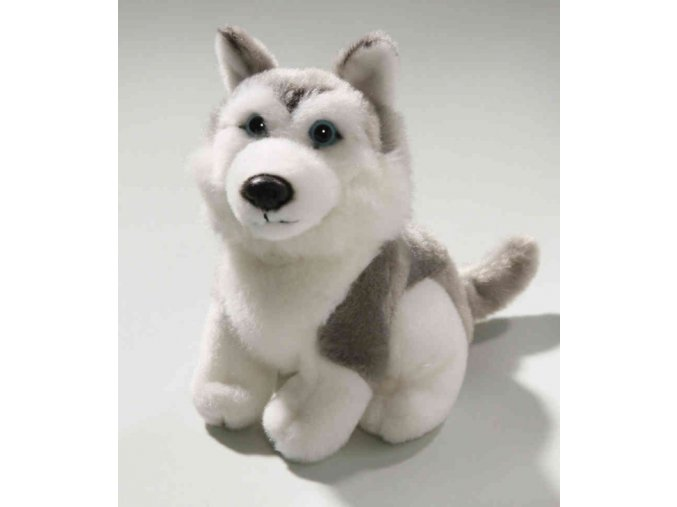 Plüss kutya - husky 16 cm